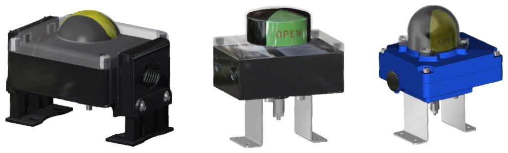 Entegre manuel kontrollü GDV çift etkili pnömatik aktüatör - aksesuarlar - LİMİT SVİÇLİ SİNYAL KUTUSU