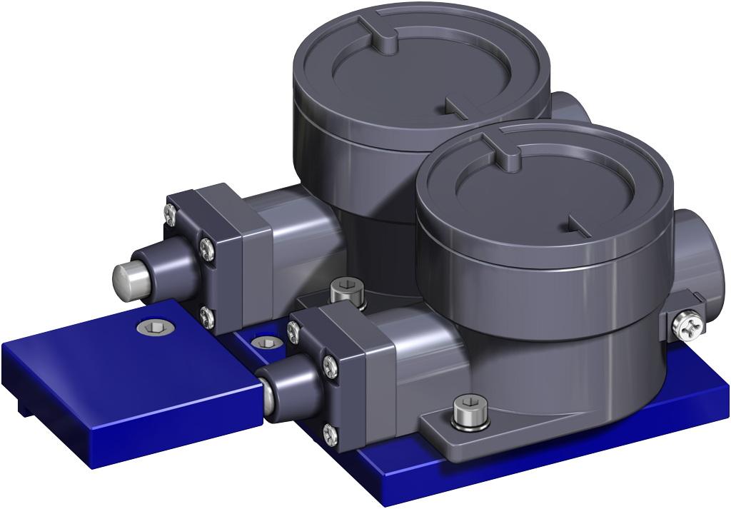 Entegre manuel kontrollü GDV çift etkili pnömatik aktüatör - aksesuarlar - PATLAMAYA KARŞI SINIRLAYICI LİMİT ANAHTARI II2GD ExdIIC